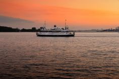 story about white ferry, red lake and orange sky by Pavel Voronenko on Amber Sky, Red Lake, Orange Sky, Toronto, Celestial, Sunset, Nature, Photography, Outdoor