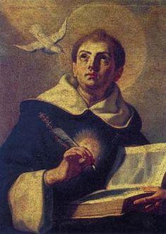 São Tomás de Aquino - sacerdote e doutor da Igreja ~~ O santo do dia do meu aniversário.