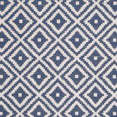 Tahoma Fabric - Indigo (F0810/06) - Clarke & Clarke Navajo Fabrics Collection