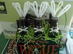 My Crazy Life: Beer Bunnies Hoppy Easter, Easter Gift, Easter Crafts, Easter Bunny, Holiday Crafts, Holiday Fun, Holiday Decor, Beer Basket, Gift Basket