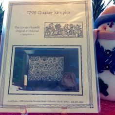 """1798 Quaker Sampler """"The Good Huswife"""" Cross Stitch Pattern by TheLavenderPathHome on Etsy"""