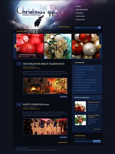 HoHoHo... Get Christmas Template Espresso! That's WordPress #template // Regular price: $60 // Unique price: $3200 // Sources available: .PSD, .PHP, This theme is widgetized #WordPress #Christmas #Decoration #Gifts