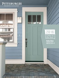 Fabulous Front Doors Try Incorporating The 2016 Paint Color Of Year Holly Glen