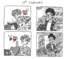 Top Funny Quotes : *gaaaaaaaasp^ can you draw sherwin and Jonathan in a comic about Valentines? Gay Comics, Funny Comics, Fanart, Cute Gay Couples, You Draw, Top Funny, Manga, Cute Love, In A Heartbeat