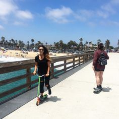 Clear skies call for scooter rides! #pulsescooters #scootering #summer #summerfun