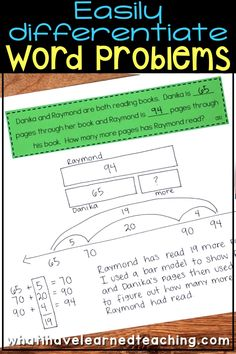 The difference between modeling to understand and strategies to solve. Take the numbers out and teach the math vocabulary. Great article explaining these ideas Word Problems 3rd Grade, Math Story Problems, Second Grade Math, Grade 2, Third Grade, Math Vocabulary, Maths, Math Fractions, Decimal Multiplication