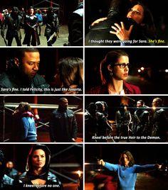 Diggle, Lyla, Felicity, Al Sah-Him & Nyssa #Arrow #Al Sah-Him