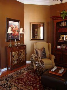 Paint Color Ralph Lauren Metallics Lush Brown Ceiling Golden Candlesticks Kitchen Colors