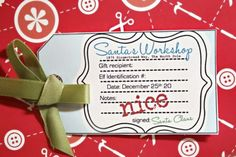 Naughty or Nice Printable Gift Tags {Christmas Printable Gift Tags}
