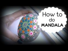 How to draw mandala?DIY stone drawing, My Crafts and DIY Projects