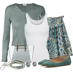 ESCADA Cardigan by dgia on Polyvore featuring ESCADA, J Brand, Marc Jacobs, Vince Camuto, Steve Madden and Blue Nile