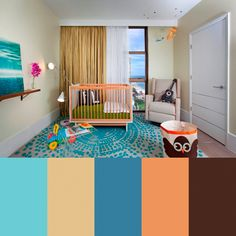 This is a fun nursery color scheme // Zippy Color Palettes from DKOR Interiors Photo