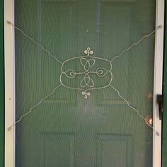 I had fun making this trinity knot wire thingie for our warped front screen door of our house. It's nice to be,able to take the time to work on a home project just for ourselves. You can read about it on my blog: http://wiremom.blogspot.com