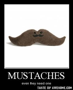 wouldn't that mean the mustache on the mustache would need a mustache? whoa inception!