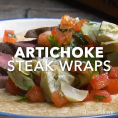 This simple, fast and flavorful dish is one the whole family loves. It's surprisingly easy to make, and you can broil the steak if you don't want to venture ou Steak Wraps, Work Meals, No Cook Meals, Healthy Snacks, Healthy Eating, Healthy Recipes, Beef Recipes, Cooking Recipes, Rice Recipes
