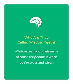 """Orthodontic Facts #6 """"Wisdom teeth got their name because they come in when you're older and wiser."""" Nalchajian Orthodontics - 7501 N Fresno St, Suite 105, Fresno, CA 93720 Phone: (559) 432 7100 #orthodonticfacts"""