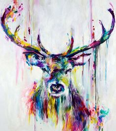 Water color stag