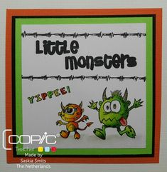 Cards made by Sas: Little Monsters