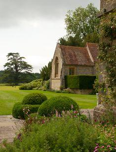 Veduta della chiesa di giardini Woolbeding