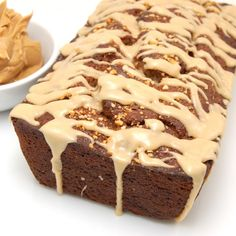 Peanut butter banana bread... interesting twist to a quick bread!