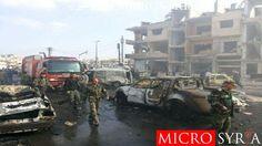 مقتل رئيس الأمن العسكري بحمص و15 من عناصره بهجمات انتحارية