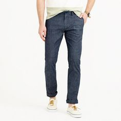 """These chinos are cut in our slim 484 fit and made out of a chambray chino with a small bit of added flex. Ideal for the guy who rides a bike or walks a bunch, these pants are more comfortable thanks to that extra elasticity. <ul><li>Sits below waist.</li><li>Extra slim through hip and thigh, with our narrowest leg.</li><li>14 3/4"""" leg opening (based on size 32/33).</li><li>Cotton.</li><li>Zip fly.&l..."""