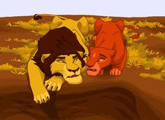 Ahadi asks his Mate Uru what he has made worng with Taka. Uru trys to explain, that they have no fault . Taka is deep in his heart a good guy. Ahadi d. Ahadi and Uru Lion King 3, Lion King Fan Art, Disney Lion King, Lion Pride, I Just Love You, Le Roi Lion, Great Films, Circle Of Life, Disney Fan Art