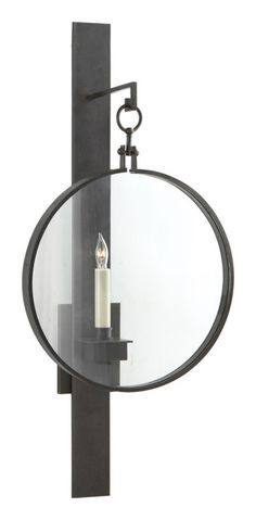 Visual Comfort SK2002AI Suzanne Kasler Alice Sconce in Aged Iron | ShopVisualComfortLights.com