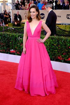 Emilia Clarke Photos - Actress Emilia Clarke attends the The 22nd Annual Screen Actors Guild Awards at The Shrine Auditorium on January 30, 2016 in Los Angeles, California. 25650_014 - The 22nd Annual Screen Actors Guild Awards - Trophy Room