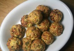 Turkey and corn meatballs (served with red pepper sauce) - Ottolenghi Greek Recipes, My Recipes, Snack Recipes, Cooking Recipes, Healthy Recipes, Snacks, Healthy Cooking, Healthy Eating, Healthy Food