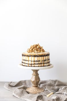 chocOlate cake with swiss meringue buttercream and salted caramel