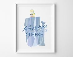 11x14 Paradise Falls Adventure is Out There by TheInkedLeaf, $7.00
