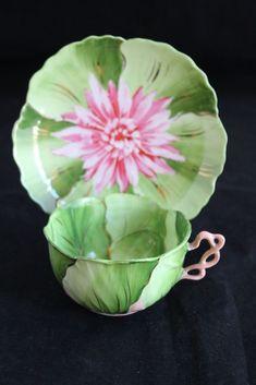 Antiguo Wheelock Viena Austria Hojas Pintado A Mano Flores Taza De Té Platillo Set   Pottery & Glass, Pottery & China, China & Dinnerware   eBay!
