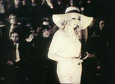 pattieboydssixtiesstyle: View Photo:Quorum Fashion Show--Pattie wearing Ossie Clark design, 1968