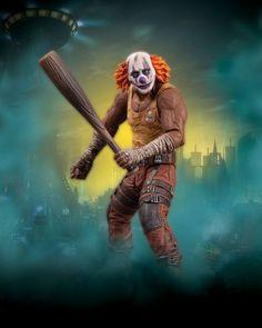 #transformer ko batman arkham city series 3: clown thug w bat [action figure] by dc direct