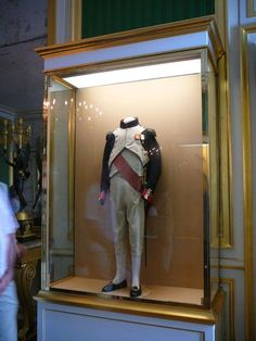 One of Napoleon's uniforms. Fontainebleau museum