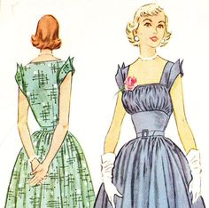 McCall's 9379 Vintage 1950s Bust Shelf Dress by DRCRosePatterns