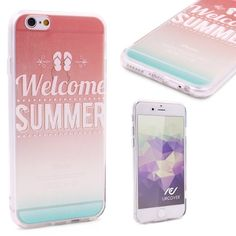 Urcover® Semi Softcase Hülle   Apple iPhone 6 Plus / 6s Plus   TPU Muster Welcome Summer   Kamera-Schutz   Handyhülle   Cover Backcase Handyschutz 7,90€