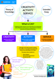 Find out about Creativity, Activity, Service (CAS), one of the three core components of the IB Diploma, with our Pin and Print Poster! http://education.cambridge.org/cas Download this free poster and print to A3 to use in your classroom! #cambridgeclassroom #ibdp