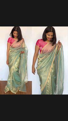 Bollywood Outfits, Bollywood Saree, Bollywood Fashion, Rekha Saree, Dress Indian Style, Indian Fashion Dresses, Indian Designer Outfits, Sari Blouse Designs, Fancy Blouse Designs