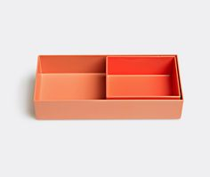 Organiser by Hay.  Simple and functional, Hay's small organiser offers a stylish storage solution equally for kitchens, vanities and desks. Formed from powder-coated steel with a matt finish, the coral tray can be combined with larger organisers from the series and will sit neatly within their frames to allow for compartmentalised storage. Shop it now at www.store.wallpaper.com