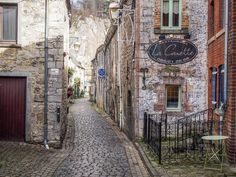 Cobbled Street in Durbuy, urban Belgium