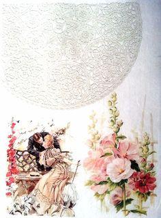 Rice Paper for Decoupage Decopatch Scrapbooking Sheet Vintage Photo Love 1