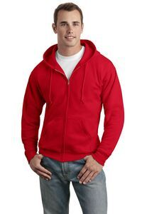 Hanes ComfortBlend EcoSmart Full Zip Hooded Sweatshirt - 7.8 ounce, 50/50 cotton/poly, made with up to 5% recycled polyester from plastic bottles.