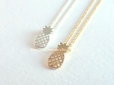 Pineapple Necklace - Gold & Silver - Rosa Vila Jewelry  - 1