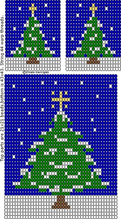 Christmas Patterns Plastic Canvas Christmas, Plastic Canvas Crafts, Plastic Canvas Patterns, Christmas Perler Beads, Christmas Ornaments To Make, Seed Bead Patterns, Beading Patterns, Tree Patterns, Christmas Tree Pattern