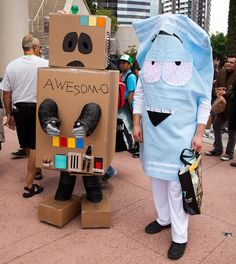 cosplay-southpark-awesome-o-and-towelie