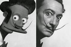 Vamos a ver diferentes retratos de Salvador Dalí y vamos a intentar sacar cuál es la característica que mejor lo define: la expresividad...