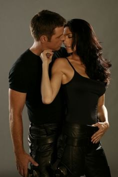 John and Aeryn from Farscape - Best Love story ever!!! <3