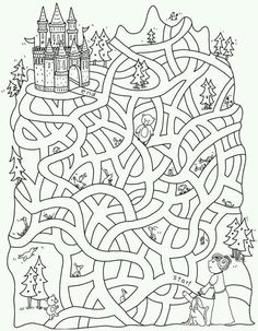 Free Printable Mazes for Kids Learning Activities, Kids Learning, Activities For Kids, Crafts For Kids, Road Trip Activities, Colouring Pages, Coloring Books, Mazes For Kids, Hidden Pictures